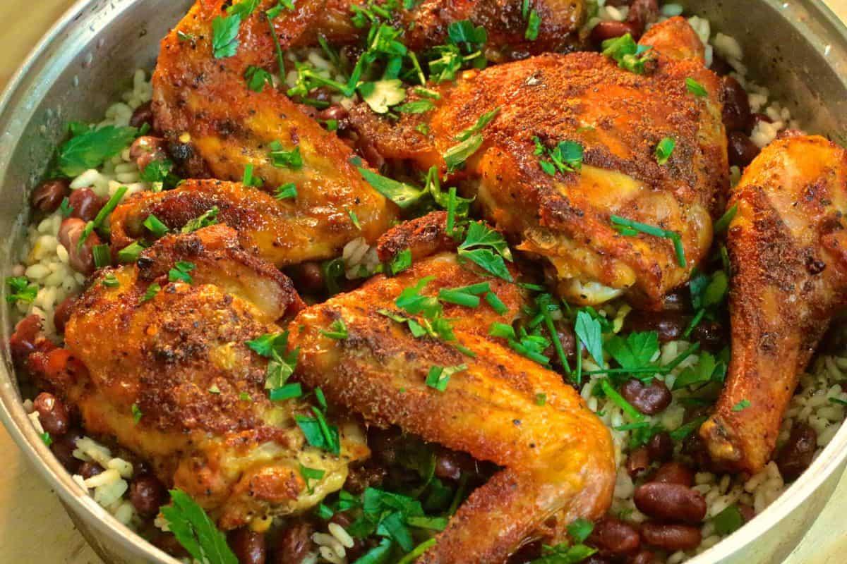 تبسي الدجاج أكلات عراقية 2