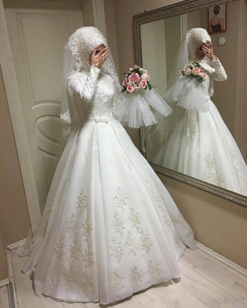 فساتين زفاف فخمه للمحجبات