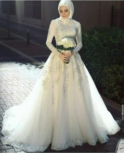فستان عروس محجبة