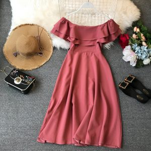 فستان ناعم قصير