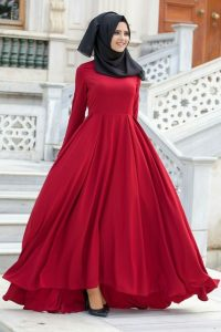 فستان ناعم طويل