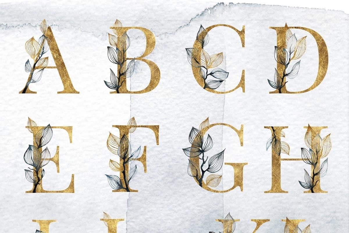 حروف انجليزية صغيرة مجلة البرونزية